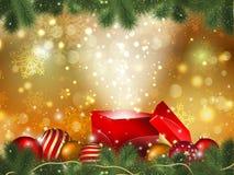 圣诞节礼物背景 皇族释放例证