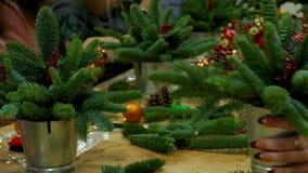 圣诞节礼物花束的装饰 影视素材