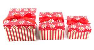 圣诞节礼物行 免版税库存图片