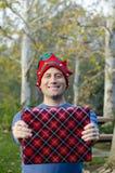 圣诞节礼物被提出对您! 免版税图库摄影