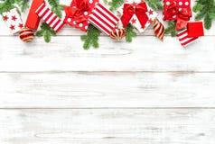 圣诞节礼物装饰装饰品假日横幅 图库摄影