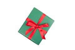 圣诞节礼物顶视图 免版税库存图片