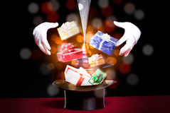 圣诞节礼物魔术  免版税库存照片