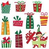 圣诞节礼物weihnachtspakete 库存例证
