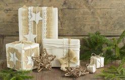 圣诞节礼物weihnachtspakete 免版税图库摄影