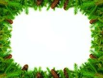 圣诞节祝贺框架 免版税库存照片