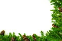 圣诞节祝贺框架 免版税库存图片