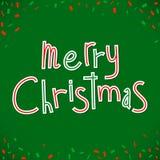 圣诞节祝贺快活的向量 免版税图库摄影