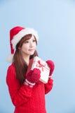 圣诞节秀丽妇女 库存图片