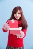 圣诞节秀丽妇女 免版税库存照片