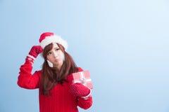 圣诞节秀丽妇女 库存照片