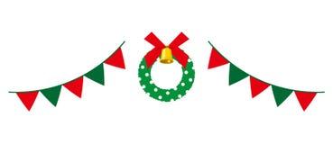 圣诞节租约和旗子诗歌选 向量例证
