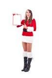 圣诞节空的信函妇女 免版税库存照片