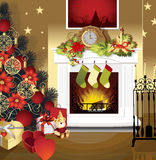 圣诞节空间 免版税库存照片
