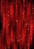 圣诞节窗帘 免版税库存照片