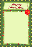 圣诞节笔记 免版税库存图片