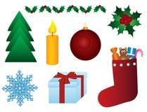 圣诞节符号 库存例证