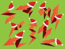 圣诞节箭头被设置的组装 库存照片