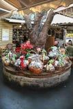 圣诞节篮子 免版税库存图片