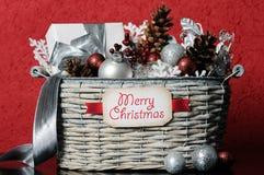 圣诞节篮子 库存图片