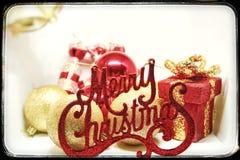 圣诞节精神、问候和喜悦 免版税库存照片