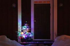 圣诞节精神在加默尔斯塔德教堂村 库存图片