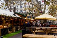 圣诞节精神在布达佩斯 图库摄影