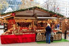 圣诞节精神在布达佩斯 库存照片