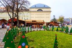 圣诞节精神在布达佩斯 免版税库存照片