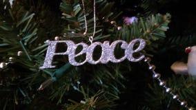 圣诞节精神的和平 图库摄影