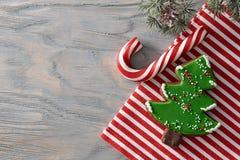 圣诞节糖果背景 库存照片
