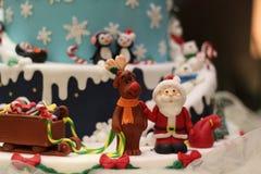 圣诞节糖果装饰,方旦糖艺术 库存照片