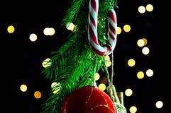 圣诞节糖果装饰 图库摄影