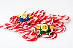 圣诞节糖果魔术职员 免版税库存图片