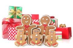 圣诞节系列姜饼时间 免版税库存图片