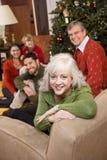 圣诞节系列高级结构树妇女 图库摄影