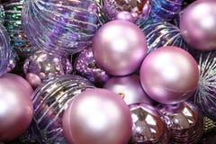 圣诞节紫色 库存图片