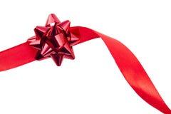 圣诞节红色丝带 库存图片