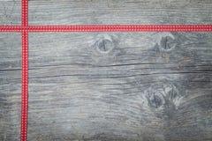 圣诞节红色丝带 免版税库存图片