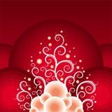 圣诞节红色主题白色 免版税库存照片