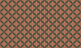 圣诞节红色和绿色几何无缝 库存照片
