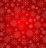 圣诞节红色墙纸,雪花纹理 皇族释放例证