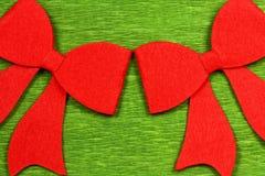 圣诞节红色弓 库存照片