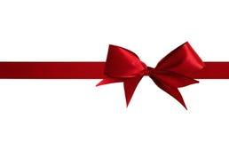 圣诞节红色弓 免版税库存图片