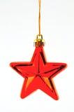 圣诞节红色星形结构树 免版税库存照片
