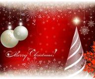 圣诞节红色精美背景 免版税图库摄影