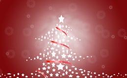 圣诞节红色结构树 皇族释放例证