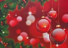 圣诞节红色背景 库存图片