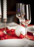 圣诞节红色设置表白色 免版税库存照片
