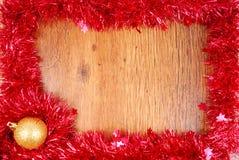 圣诞节红色闪亮金属片框架边界 库存图片